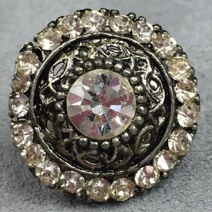 "Vintage Rhinestone Lapel Pin 1/3"" Diameter"